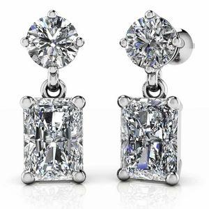 Sterling Silver High Grade AAA CZ Diamond Earrings
